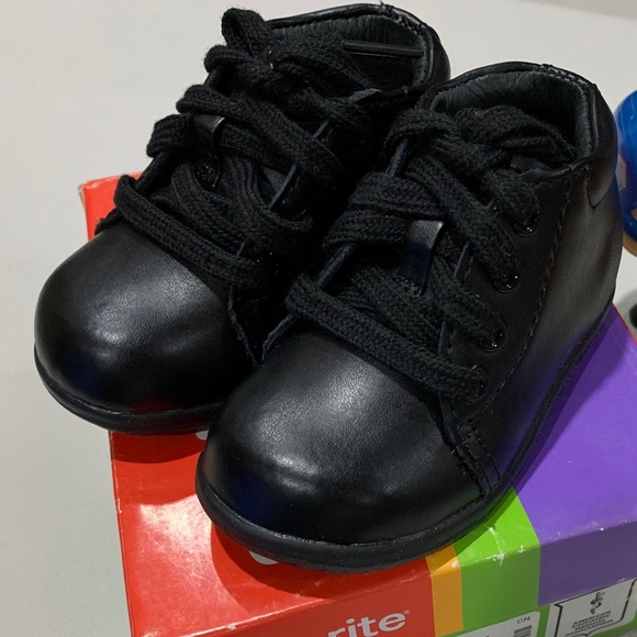 Stride Rite Other - New Stride Rite Elliot Black Leather Infant Shoes